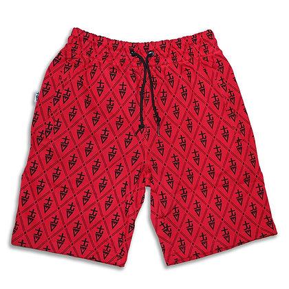 Monogram tREv Shorts - Red/Black