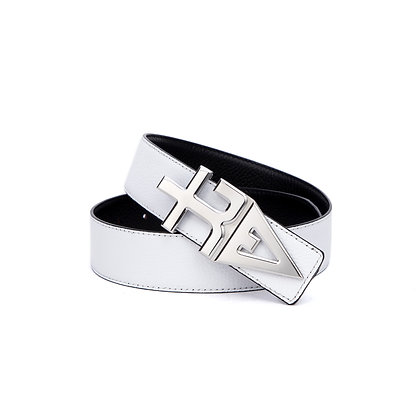 tREv Leather Belt - Platinum