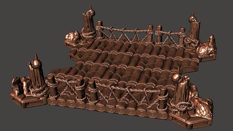 Wooden Bridge - Digital 3D Print Files