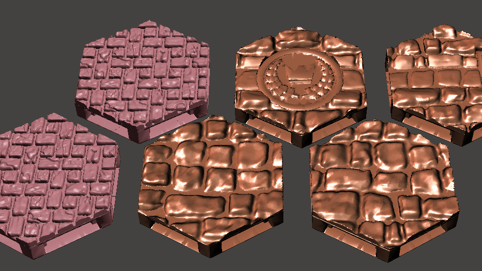 Cobble and Brick Floor Hex Pack
