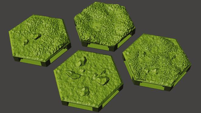 Outdoor Floor Hexes (Digital 3D Print Files)