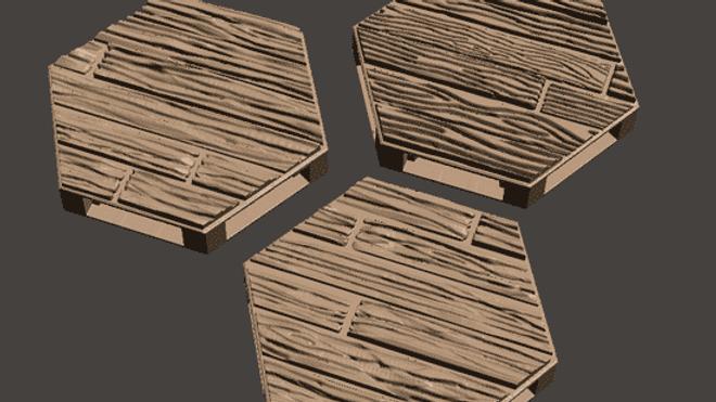 Indoor Floor Hexes (Digital 3D Print Files)