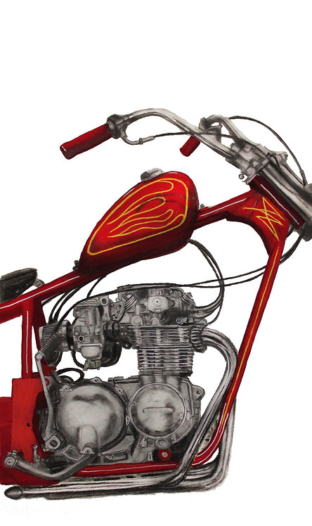 Rawhide Cycles - CB550 Chopper