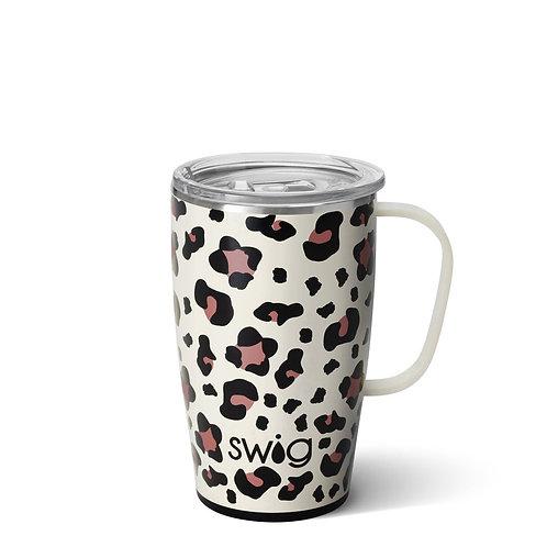 Luxy Leopard Print Travel Mug (18oz)