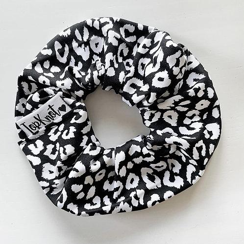 The Monochrome Leopard Scrunchie