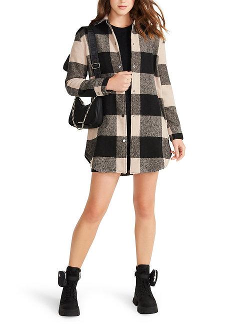 Eldridge Plaid Coat Lt Taupe