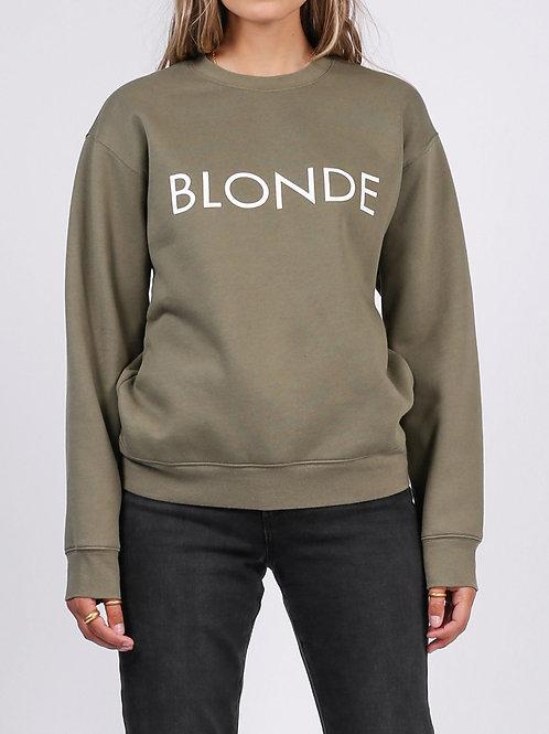 The Blonde Classic Crew Sweatshirt-Olive