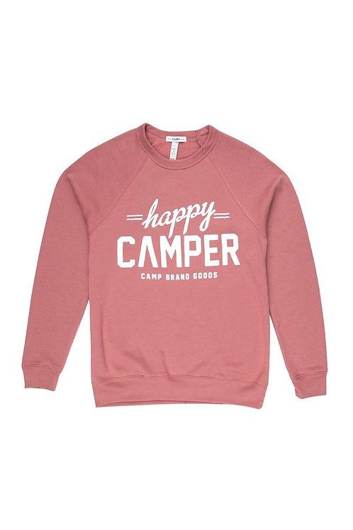 Happy Camper Sweatshirt Mauve
