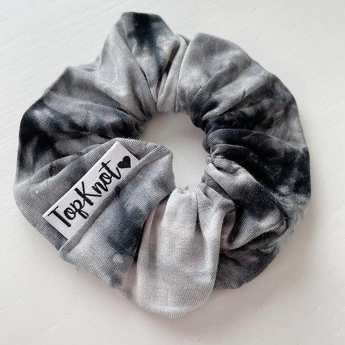 The Monochrome Tie Dye Scrunchie