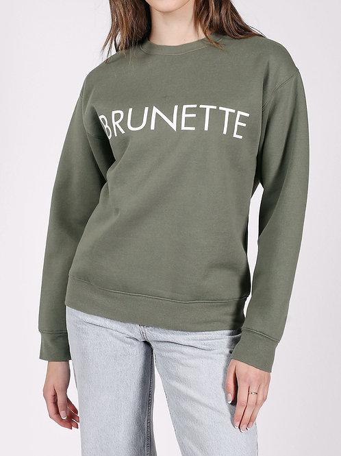 The Brunette Classic Crew Sweatshirt-Olive