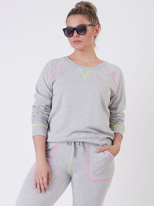 Neon Stitch Pullover