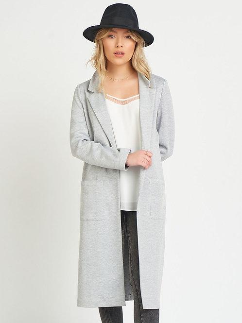 Knit Jacket-Light Grey