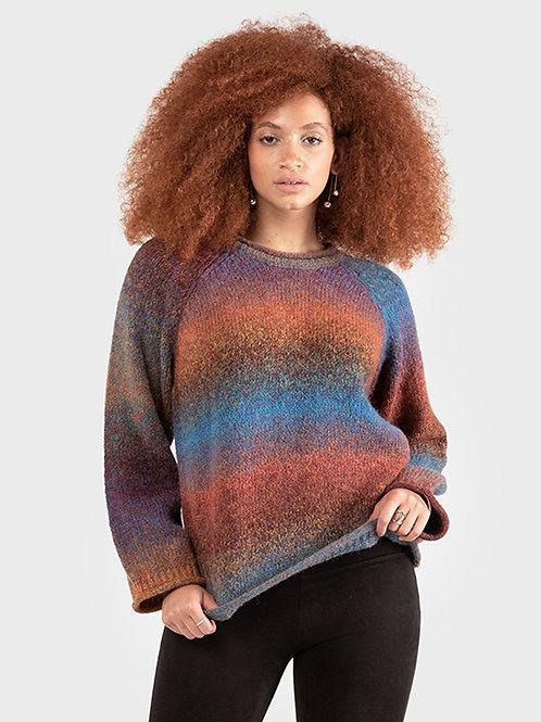 Space Dye Sweater-Rainbow