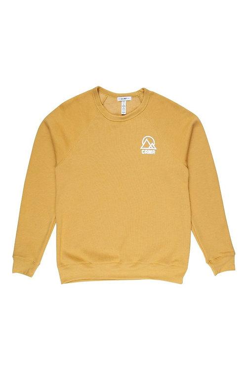 Retro Mountain Sweatshirt Mustard