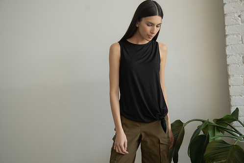 Uplift and Inspire Others Wherever you go-Tie Tank Midnight Black