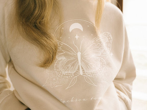 Butterfly Effect Hoodie-Natural