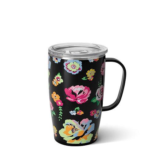 Fleur Noir Travel Mug (18oz)