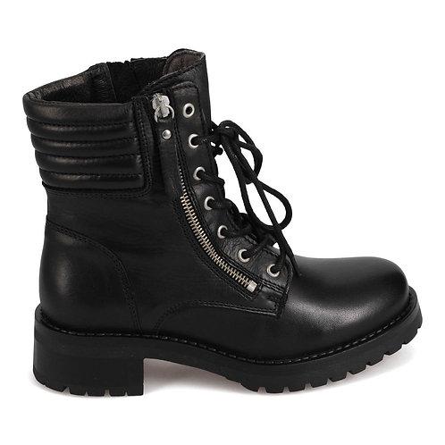 Parish Lace up Bootie-Black