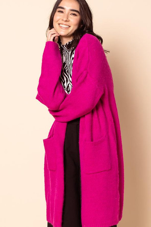The Harriett Cardigan-Hot Pink