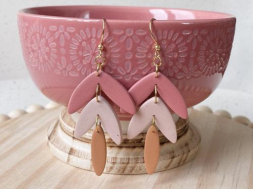 Tri Pink Danglers