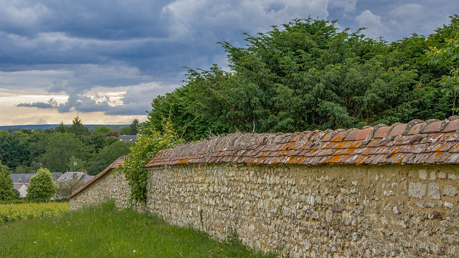 wall at vineyard around property in Loir