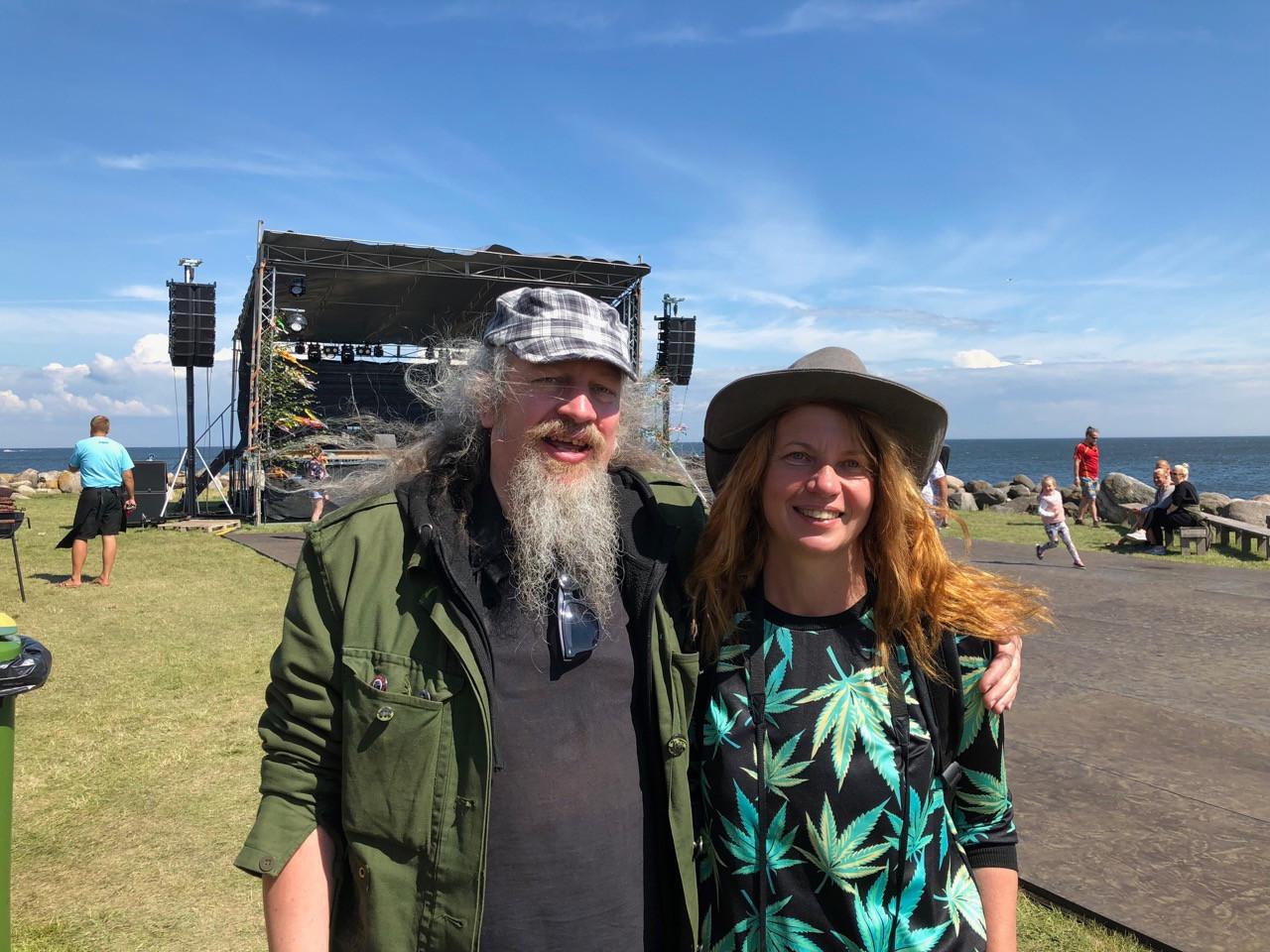 Raimonds Lagimovs un Aija Bley Kihnu salā