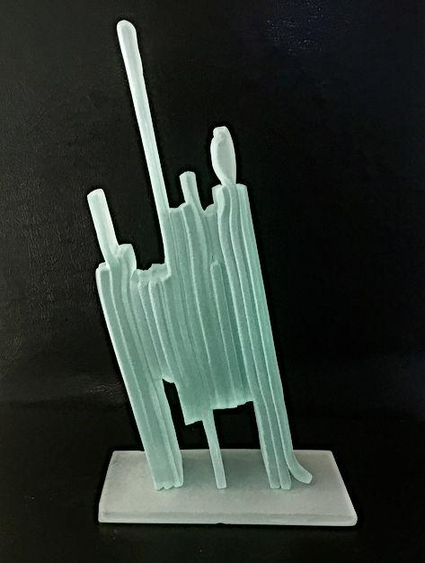 sculpture verre sablé