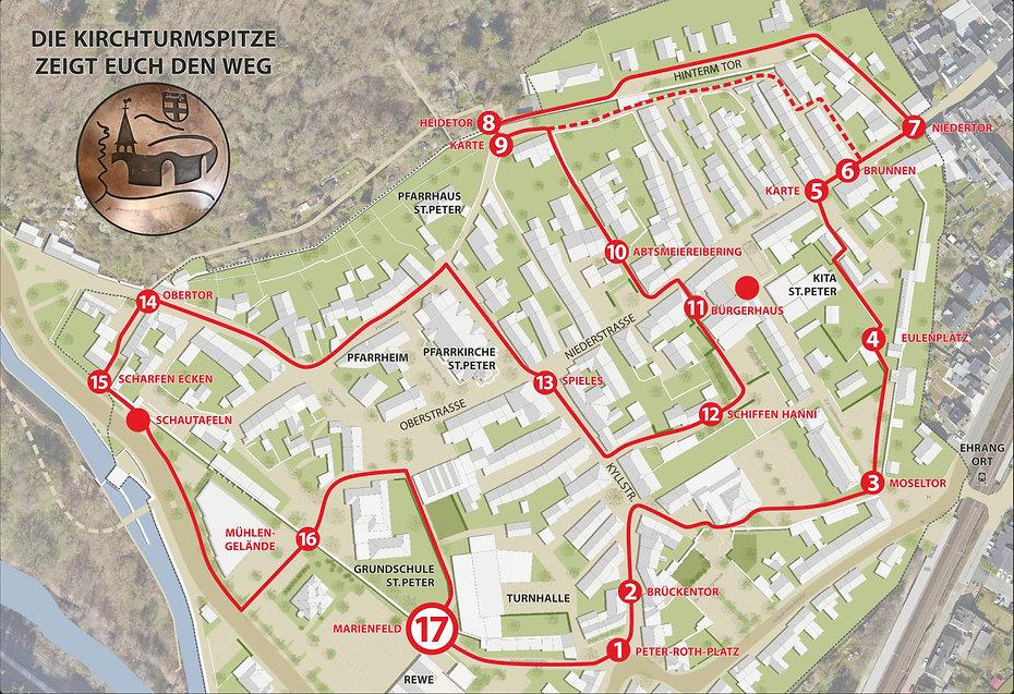 Historischer Stadtmauerrundgang Marienfeld Trier Ehrang