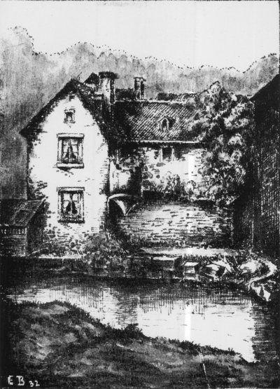 Scharfe-Eck mit altem Wehrturm Trier Ehrang