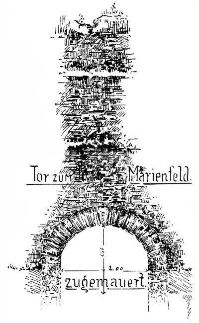 Kurfürstliche Stadtmauer Tor zum Marienfeld Trier Ehrang