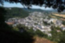 Blick von der Kanzel auf Ehrang