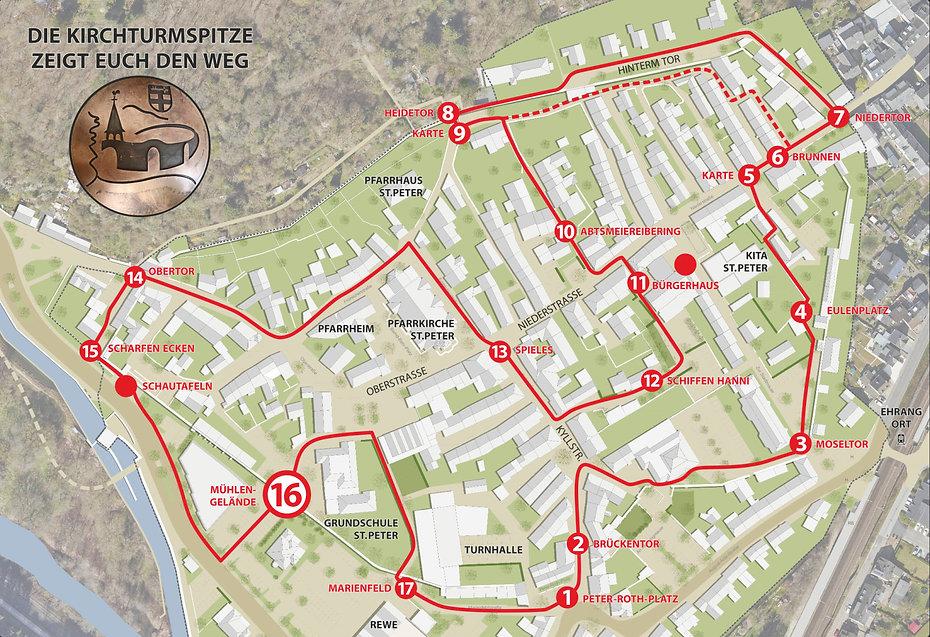 Historischer Stadtmauerrundgang Mühlengelände Trier Ehrang