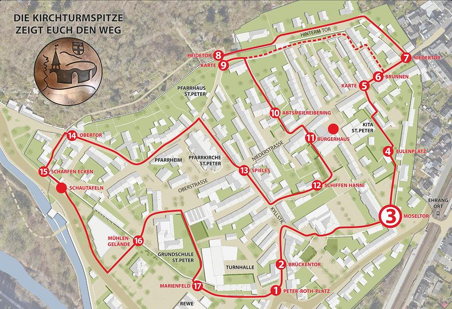 Historischer Stadtmauerrundgang Moseltor Trier Ehrang