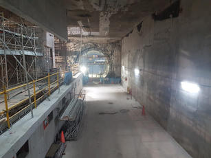 Construction of Shenton Way Station & Tu