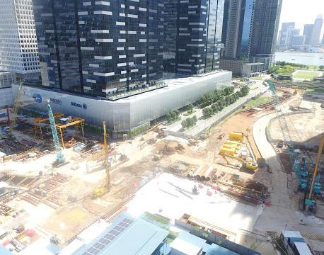 Construction of Shenton Way Station