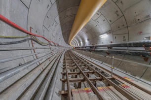Construction of Orchard Station & Tunnel