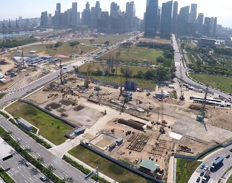 Construction of Marina South Station