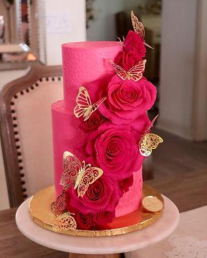 Hot pink and butterflies
