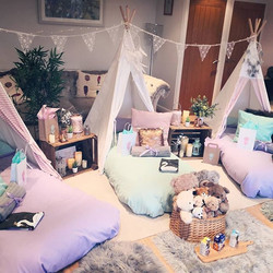 Dreamcatcher themed sleepover, set up, s