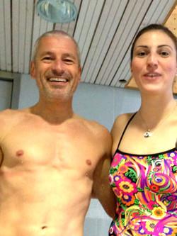 Schwimmtraining mit Mirna Jukic