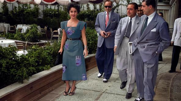 LIZ TAYLOR Y MICHAEL WILDING EN EL CASTELLANA HILTON, 1953