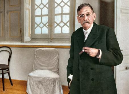 BENITO PÉREZ GALDÓS EN SU CASA, 1914