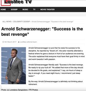 Arnold Schwarzenegger: LooMee TV