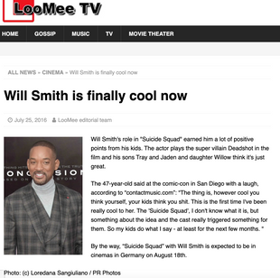 """Will Smith: """"Suicide Squad"""" LooMee TV"""