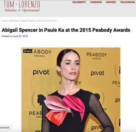 Abigail Spencer: Tom & Lorenzo