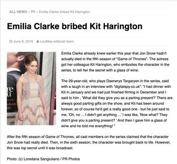 Emilia Clarke: LooMee TV
