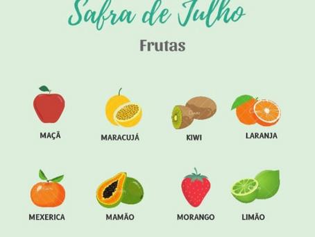 Frutas e Hortaliças de Julho🍎🍓🥬🥦