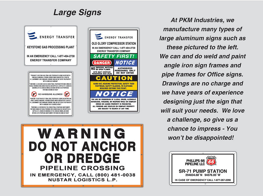 Pipeline Station Signs