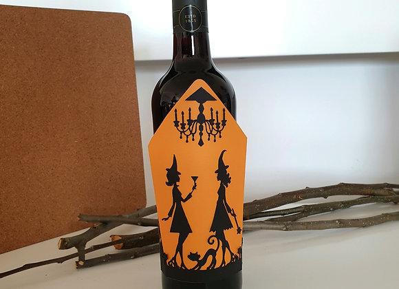 Omot za vino Halloween vještice