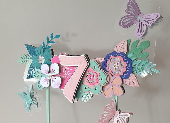 Topper cvijeće i leptiri